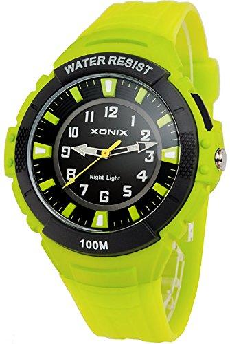 Analoge XONIX Herren und Teenager Armbanduhr mit Licht nickelfrei WR100m IQ 6