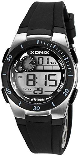 Armbanduhr XONIX digital fuer Damen und Kinder WR100m nickelfrei XDNK 8