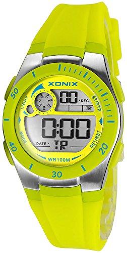 Armbanduhr XONIX digital fuer Damen und Kinder WR100m nickelfrei XDNK 3