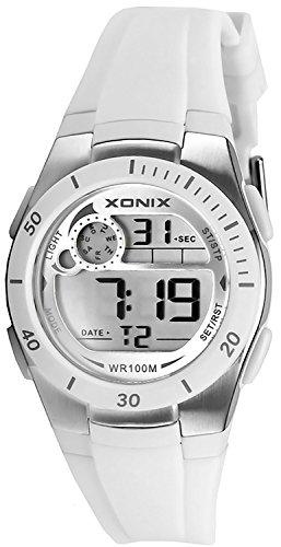 Armbanduhr XONIX digital fuer Damen und Kinder WR100m nickelfrei XDNK 1