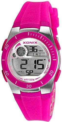 Armbanduhr XONIX digital fuer Damen und Kinder WR100m nickelfrei XDNK 5