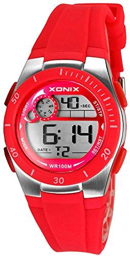 Armbanduhr XONIX digital fuer Damen und Kinder WR100m nickelfrei XDNK 6