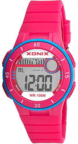 Armbanduhr XONIX digital fuer Damen und Maedchen mit Alarm Timer Stoppuhr wasserdicht bis 100m XDS79K 2