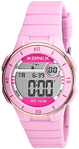 Armbanduhr XONIX digital fuer Damen und Maedchen mit Alarm Timer Stoppuhr wasserdicht bis 100m XDS79K 1
