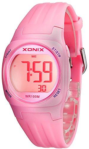 Armbanduhr XONIX fuer Damen und Kinder Datum Alarm Stoppuhr WR100m XDG60K 4