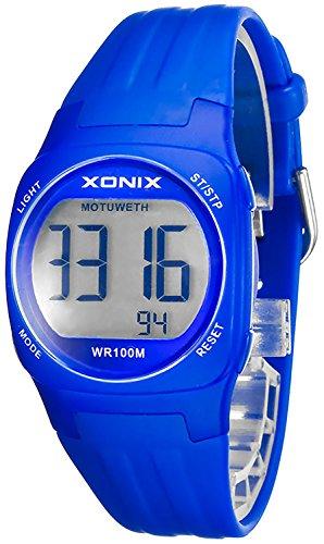 Armbanduhr XONIX fuer Damen und Kinder Datum Alarm Stoppuhr WR100m XDG60K 5