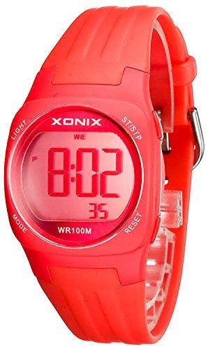 Armbanduhr XONIX fuer Damen und Kinder Datum Alarm Stoppuhr WR100m XDG60K 6