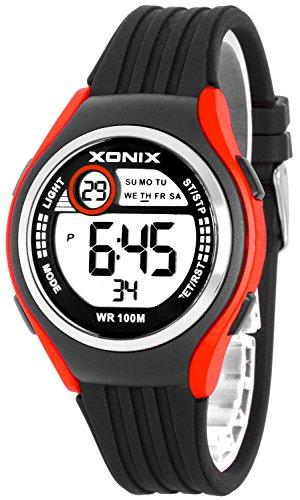 Armbanduhr XONIX Unisex Stoppuhr Alarm Datum wasserdicht bis 100m XDHJ88 6