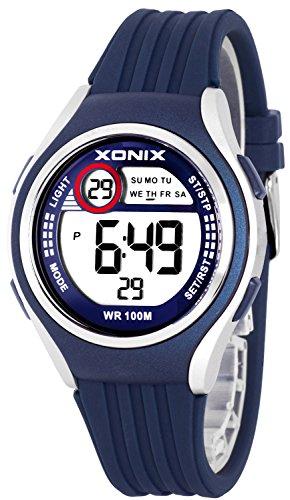 Armbanduhr XONIX Unisex Stoppuhr Alarm Datum wasserdicht bis 100m XDHJ88 3