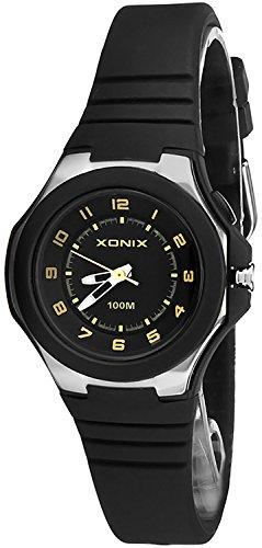 Armbanduhr XONIX fuer Kinder 12 Stunden Ziffernblatt Hintergrundlicht WASSERDICHT bis 100m nickelfrei XAF53O 3
