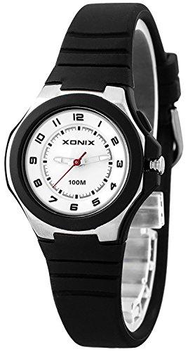 Armbanduhr XONIX fuer Kinder 12 Stunden Ziffernblatt Hintergrundlicht WASSERDICHT bis 100m nickelfrei XAF53O 5