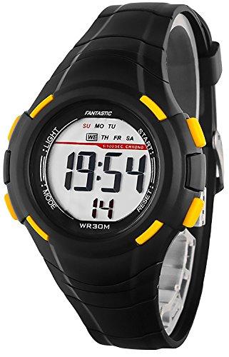 Kleine digitale FANTASTIC Armbanduhr fuer Damen und Kinder Stoppuhr Alarm Licht ZF639RE60 1