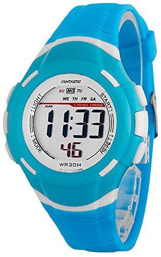 Kleine digitale FANTASTIC Armbanduhr fuer Damen und Kinder Stoppuhr Alarm Licht ZF639RE60 4