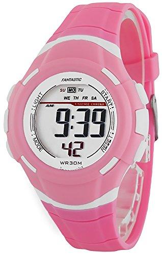 Kleine digitale FANTASTIC Armbanduhr fuer Damen und Kinder Stoppuhr Alarm Licht ZF639RE60 3
