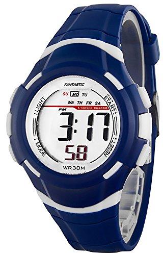 Kleine digitale FANTASTIC Armbanduhr fuer Damen und Kinder Stoppuhr Alarm Licht ZF639RE60 2