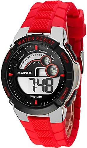 Digitale Mulifunktions XONIX Armbanduhr fuer Herren und Teenager WR100m XDNJ 5