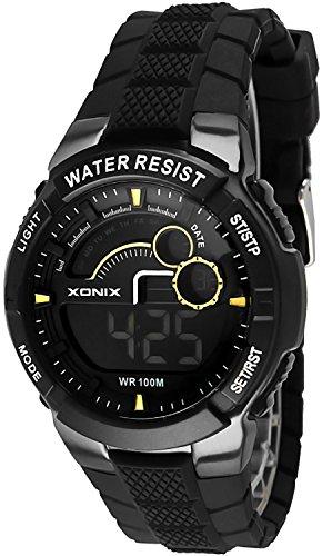 Digitale Mulifunktions XONIX Armbanduhr fuer Herren und Teenager WR100m XDNJ 2