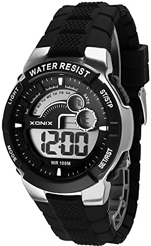Digitale Mulifunktions XONIX Armbanduhr fuer Herren und Teenager WR100m XDNJ 1