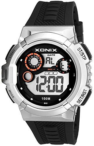 Grosse digitale Xonix Unisex Armbanduhr WR100m Alarm Stoppuhr Timer XDV05X 6