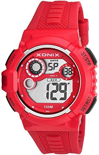 Grosse digitale Xonix Unisex Armbanduhr WR100m Alarm Stoppuhr Timer XDV05X 2