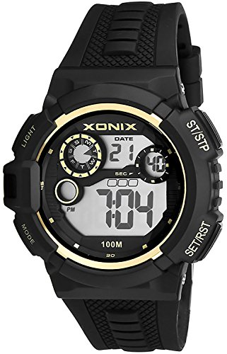 Grosse digitale Xonix Unisex Armbanduhr WR100m Alarm Stoppuhr Timer XDV05X 5