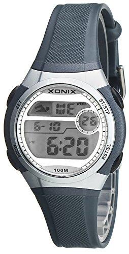 Digitale Unisex XONIX Armbanduhr Timer Alarm Stoppuhr Licht WR100m XDLF 4