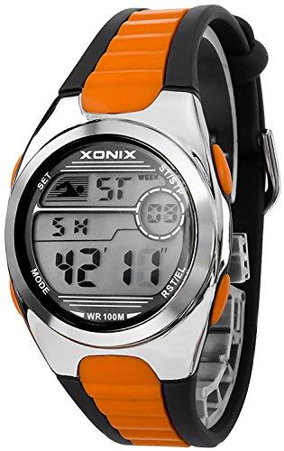 Digitale unisex Xonix Armbanduhr WR100m MH 7