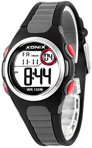Digitale XONIX Armbanduhr vielen Funktionen WR100m nickelfrei Damen Kinder XDN11SP 3