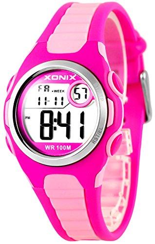 Digitale XONIX Armbanduhr vielen Funktionen WR100m nickelfrei Damen Kinder XDN11SP 5