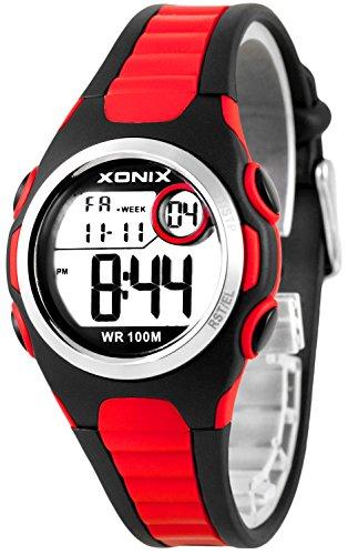 Digitale XONIX Armbanduhr vielen Funktionen WR100m nickelfrei Damen Kinder XDN11SP 4