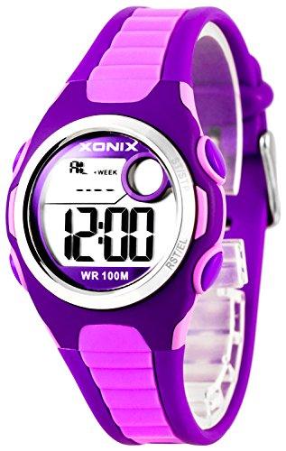 Digitale XONIX Armbanduhr vielen Funktionen WR100m nickelfrei Damen Kinder XDN11SP 1