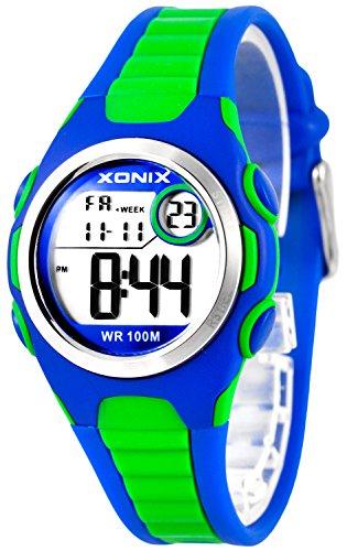 Digitale XONIX Armbanduhr vielen Funktionen WR100m nickelfrei Damen Kinder XDN11SP 6