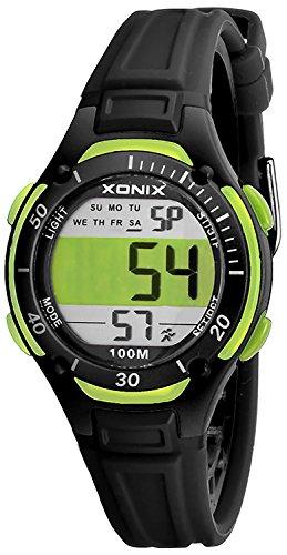 Digitale XONIX Armbanduhr fuer Damen und Kinder WR100m super leicht nickelfrei X1LYMA 1