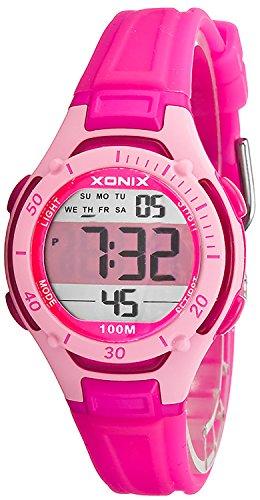 Digitale XONIX Armbanduhr fuer Damen und Kinder WR100m super leicht nickelfrei X1LYMA 2