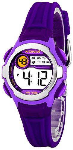Digitale XONIX Armbanduhr fuer Damen Kinder WR100m Datum Stoppuhr Licht B734HJ99 3