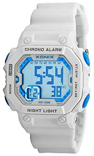 Digitale XONIX Armbanduhr fuer Damen Kinder mit Timer Alarm Stoppuhr wasserdicht 100m XF97GM 3