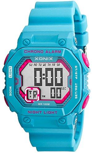 Digitale XONIX Armbanduhr fuer Damen Kinder mit Timer Alarm Stoppuhr wasserdicht 100m XF97GM 6