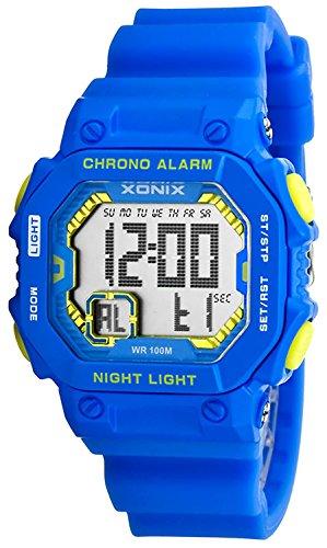 Digitale XONIX Armbanduhr fuer Damen Kinder mit Timer Alarm Stoppuhr wasserdicht 100m XF97GM 2