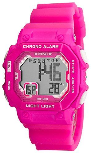 Digitale XONIX Armbanduhr fuer Damen Kinder mit Timer Alarm Stoppuhr wasserdicht 100m XF97GM 7