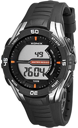 Digitale XONIX Armbanduhr fuer Herren und Teenager WR100m Stoppuhr Licht Alarm XJK0 8