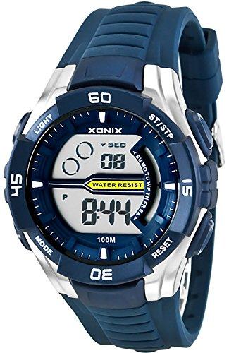 Digitale XONIX Armbanduhr fuer Herren und Teenager WR100m Stoppuhr Licht Alarm XJK0 7