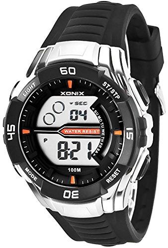 Digitale XONIX Armbanduhr fuer Herren und Teenager WR100m Stoppuhr Licht Alarm XJK0 5