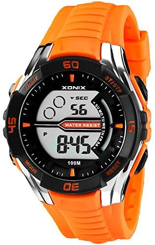 Digitale XONIX Armbanduhr fuer Herren und Teenager WR100m Stoppuhr Licht Alarm XJK0 4