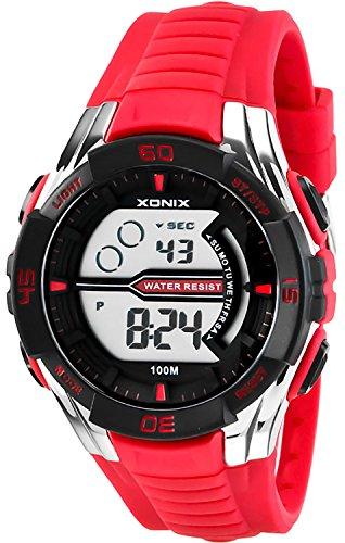 Digitale XONIX Armbanduhr fuer Herren und Teenager WR100m Stoppuhr Licht Alarm XJK0 2