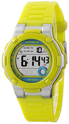 Kleine digitale XONIX Damen und Timer Alarm Stoppuhr WR100m XDF65K 2