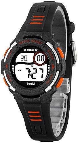Moderne digitale XONIX Multifunktions Armbanduhr fuer Damen und Kinder WR100m D63WN56K8 6