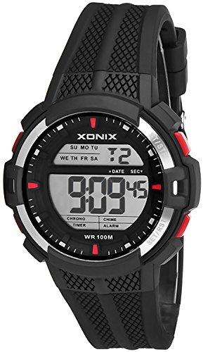 Digitale XONIX Multifunktions Armbanduhr fuer Herren und Teenager WR100m Alarm Timer Stoppuhr XDT43J 2