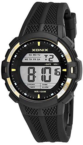 Digitale XONIX Multifunktions Armbanduhr fuer Herren und Teenager WR100m Alarm Timer Stoppuhr XDT43J 3