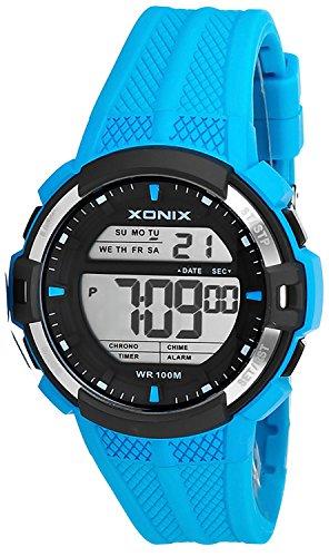 Digitale XONIX Multifunktions Armbanduhr fuer Herren und Teenager WR100m Alarm Timer Stoppuhr XDT43J 7