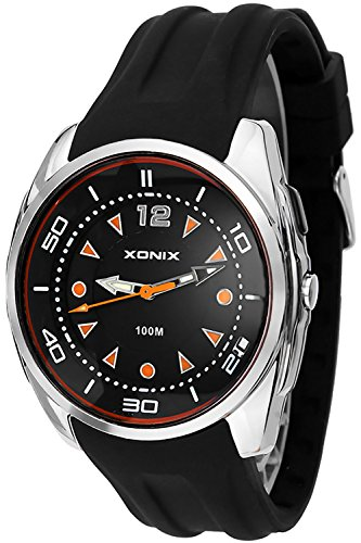 Grosse XONIX Armbanduhr analog fuer Sie und Ihn Licht WR100m XALQ 3